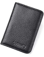 Men's RFID Genuine Leather Slim Wallet Credit Card Holder