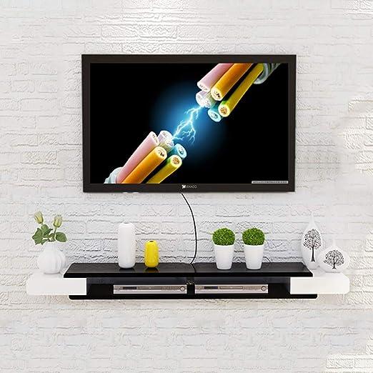 Estantes de pared Sala de estar TV pared de fondo colgar en la ...