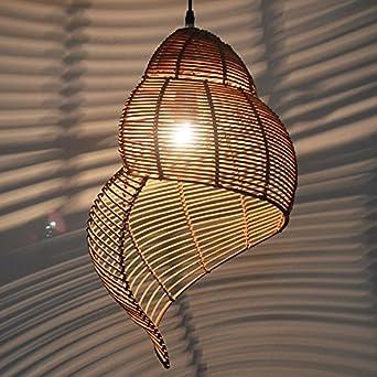 Rattan Und Bambus Schnecke Kronleuchter Inneneinrichtung Lampen Esszimmer Schlafzimmer Wohnzimmer Beleuchtung 35