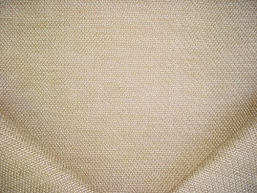 145RT13 - Champagne / Soft White Overscaled Basketweave Tweed Designer Upholstery Drapery Fabric - By the -