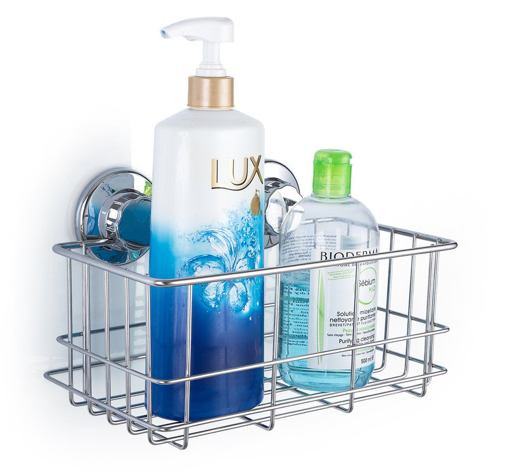 SANNO Bathroom Shower Caddy, Deep Basket Shelf with Suction Cups ...