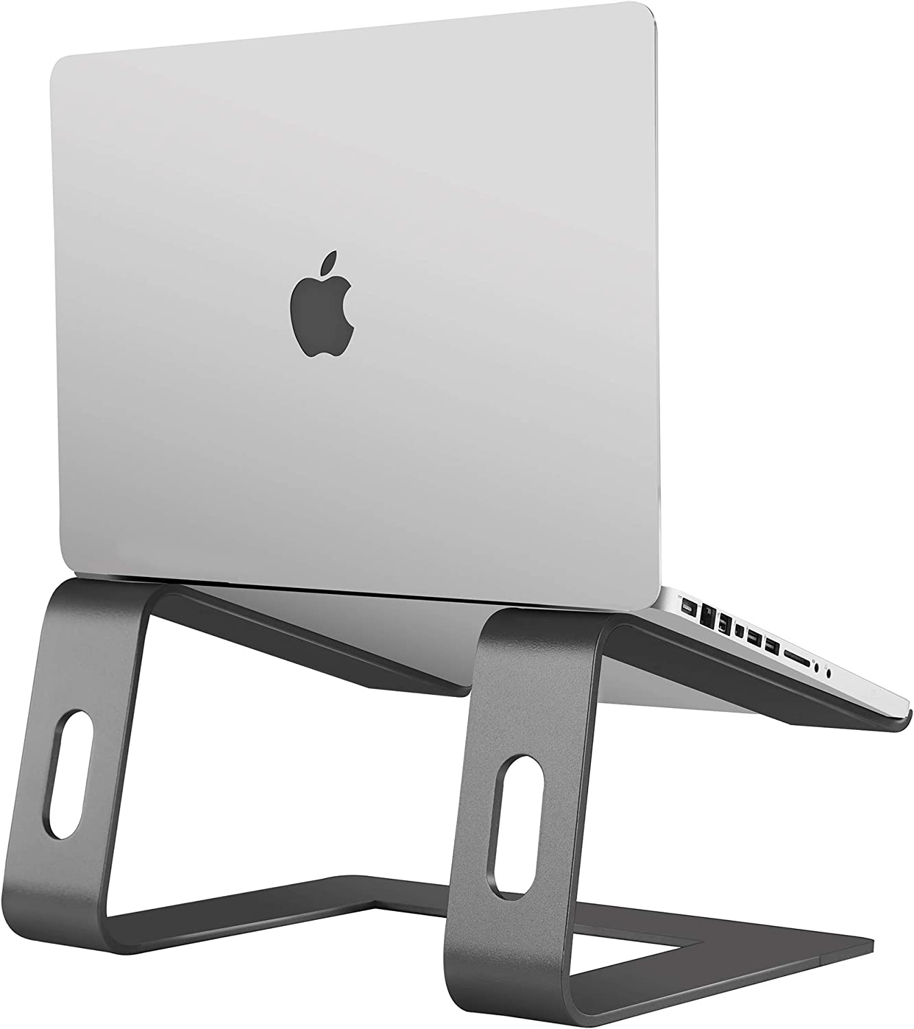 Orionstar Laptop Stand Portable Aluminum Laptop Riser Compatible with Apple Mac MacBook Air Pro 10 to 15.6 Inch Notebook Computer, Detachable Ergonomic Elevator Holder, Space Grey