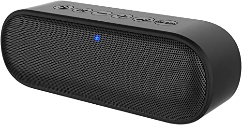 Kunodi A15 Portable Bluetooth Speaker V5.0, Wireless Shower Speaker IPX7 Outdoor Waterproof with 12W HD Sound, Exceptional Bass Mode, Built in Mic, 20-Hour Playtime for iPhone, Samsung and More