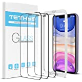 """TETHYS Glass Screen Protector Designed For iPhone 11 / iPhone XR (6.1"""") [Edge to Edge Coverage] Full Protection Durable Tempe"""
