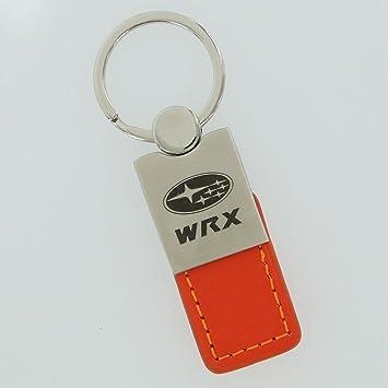 Subaru WRX naranja llavero de cuero: Amazon.es: Coche y moto