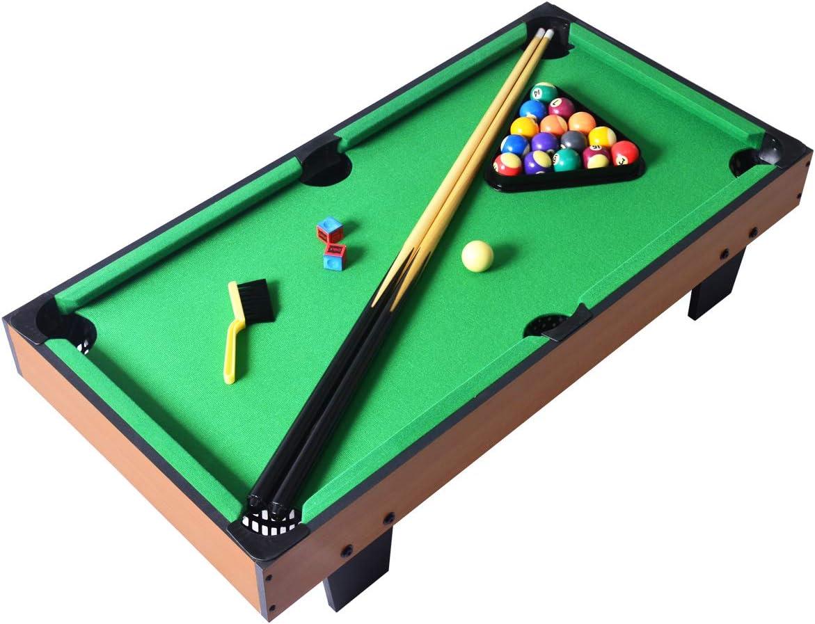 TP NAISSGO Mini Portable Pool Table, Tabletop Billiards, Pool Game Set,Children's Game Table