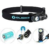Olight® H1R Nova - Lampe Torche Frontale Rechargeable LED Cree XM-L2 600 Lumens, Lampe Amovible, Bandeau Elastique Réglable, 5 Modes d'Eclairage, Parfait pour Activités Sports Nocturnes
