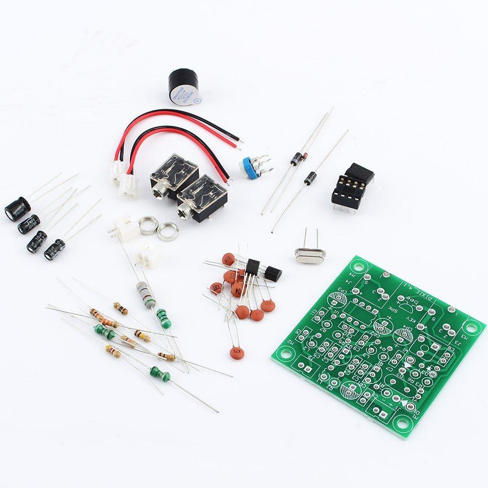 ZJchao HAM Radio 40M CW Shortwave Transmitter Receiver Version 4.1 7.023-7.026MHz QRP Pixie Kit DIY with Buzzer