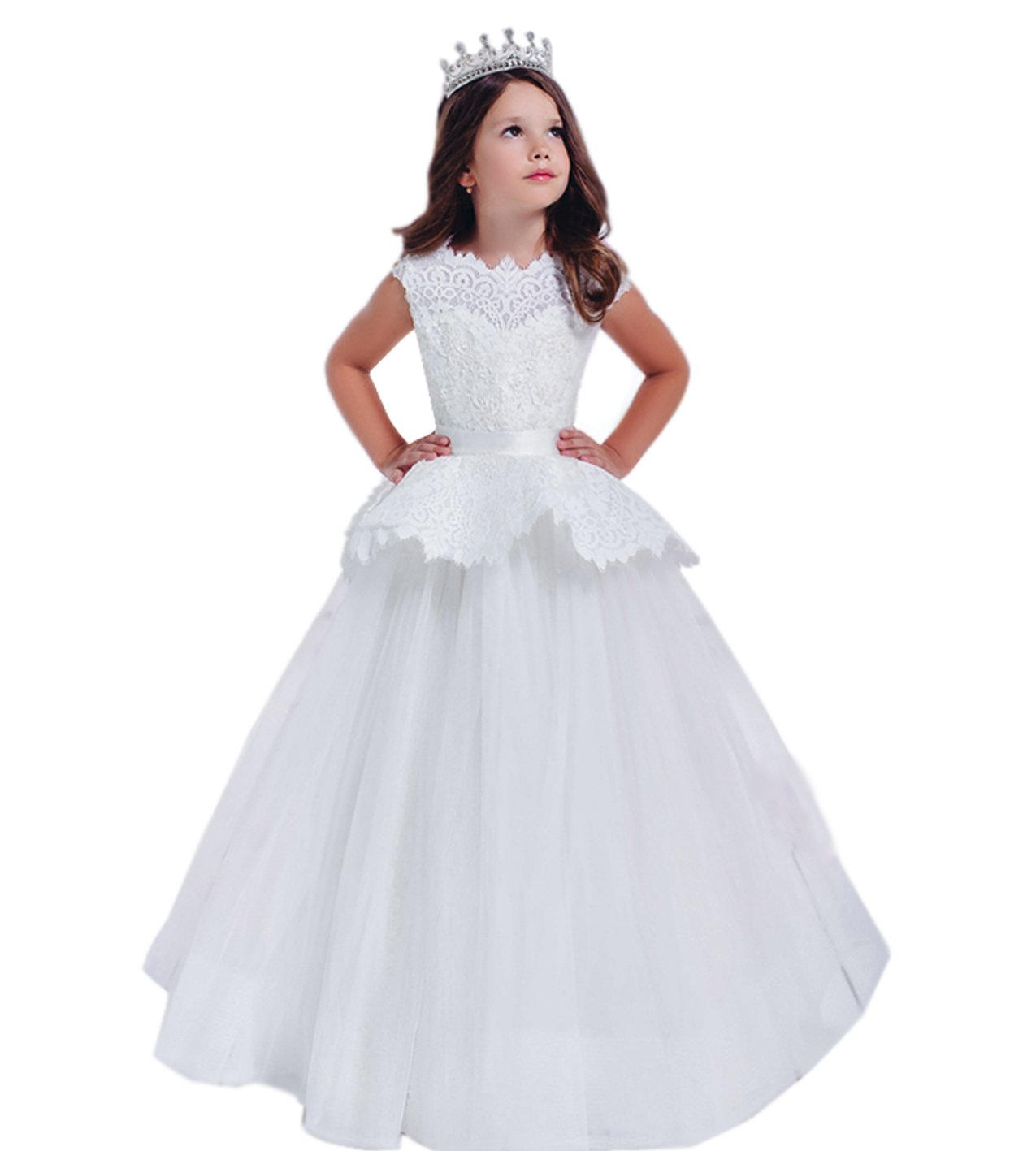 Kelaixiang Formal Princess Ball Gown Dress For Flower Girl (11) by Kelaixiang
