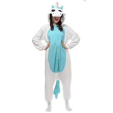 Rosa/Azul caballo adulto Unisex Cosplay pijamas Onesies Pijama ...