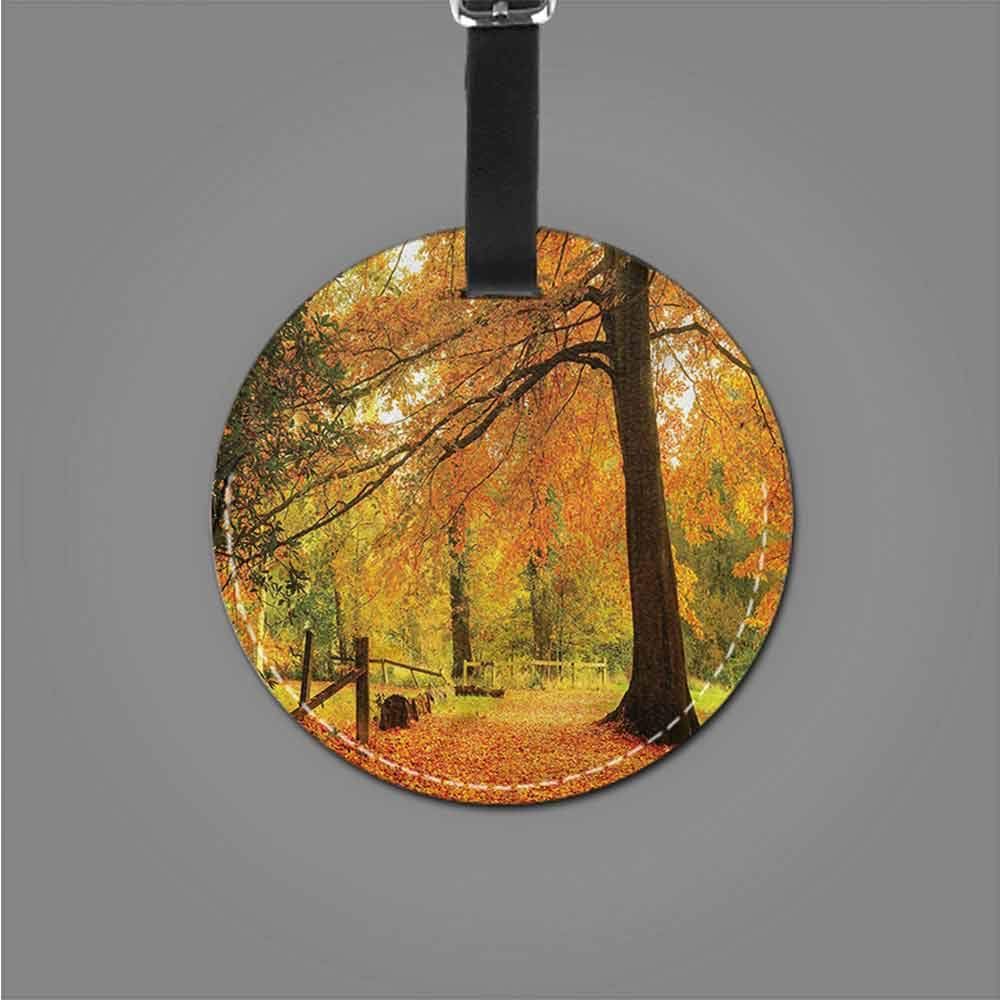 Name Labels Forest,Autumn Forest Bench Tag Portable Women