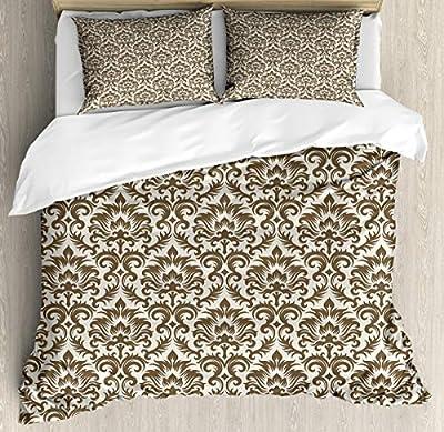 Super Soft Cover quiltAntique Victorian Floral Duvet Cover SetSuper Soft Bedding Set and Easy Care