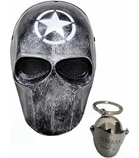 Amazon.com : Perfecto Mask Red Black Star Wars Paintball Masks ...