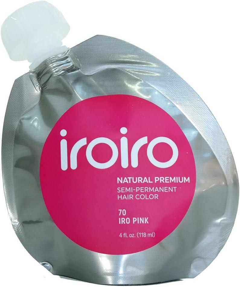 Tinte para el cabello semipermanente, natural, alta calidad, 118 ml, color rosa 70 Iro Pink