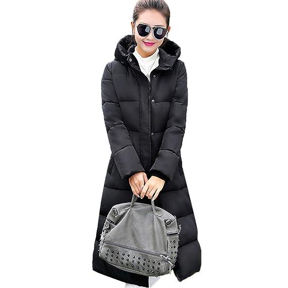 Amazon.com: Dapengzhu Fashion Winter Jacket Women New Thick Warm Female Jacket Cotton Coat Parkas Long Jaqueta Feminina Inverno Women Hooded Coat Black ...