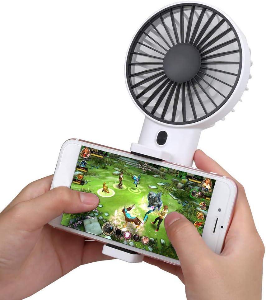 NarutoSak USB Rechargeable Handheld Cooling Fan Summer Travel Adjustable Speed Cooler