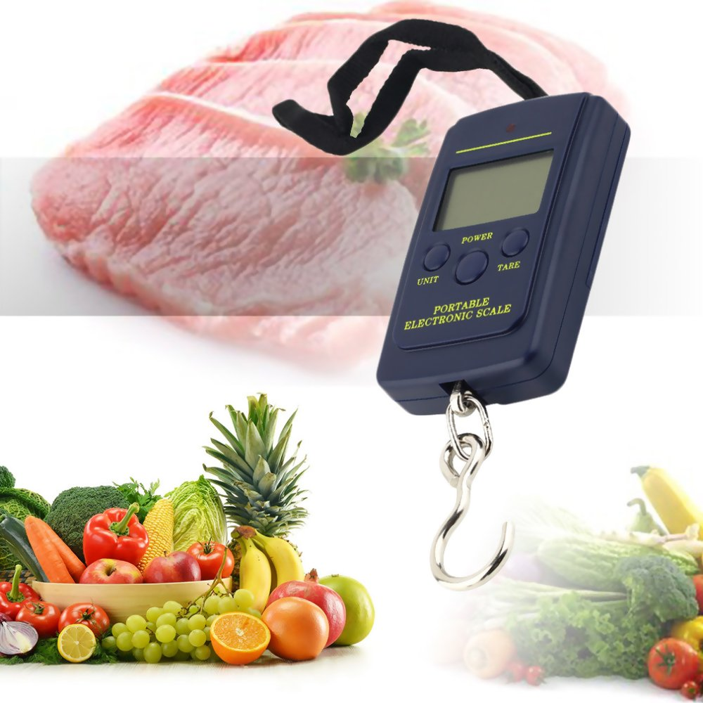 1638f2f206f0 Ezyoutdoor 40kg x 10g Portable Mini Electronic Digital Scale Hanging ...