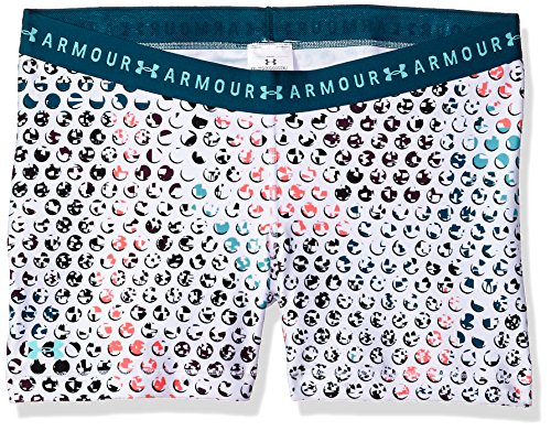 Under Armour Women's HeatGear Armour Printed Shorty, Tourmaline Teal (718)/Tropical Tide, Small