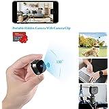 隠しスパイカメラ Suntee WiFi防犯カメラ 広角150° 1080P超高画質 遠隔監視可能 ポータブルホームセキュリティカメラ、iPhone/Android携帯電話付きライブストリーミング、屋内屋外用の最も完全なアクセサリー