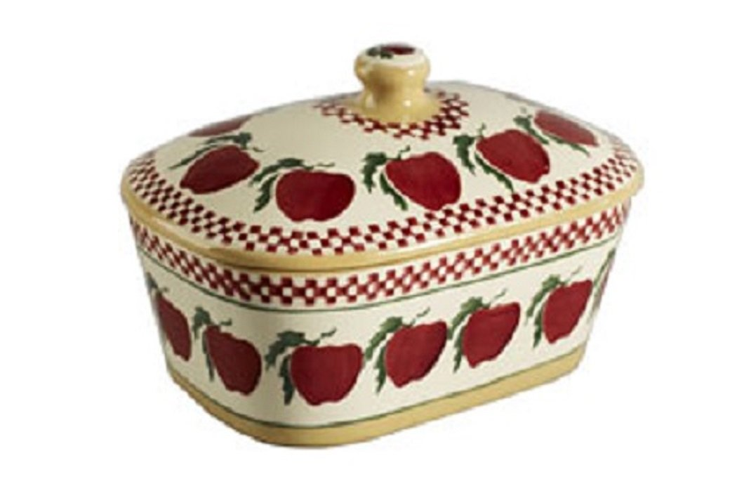 Covered Butter Dish, Nicholas Mosse Pottery, Apple Design