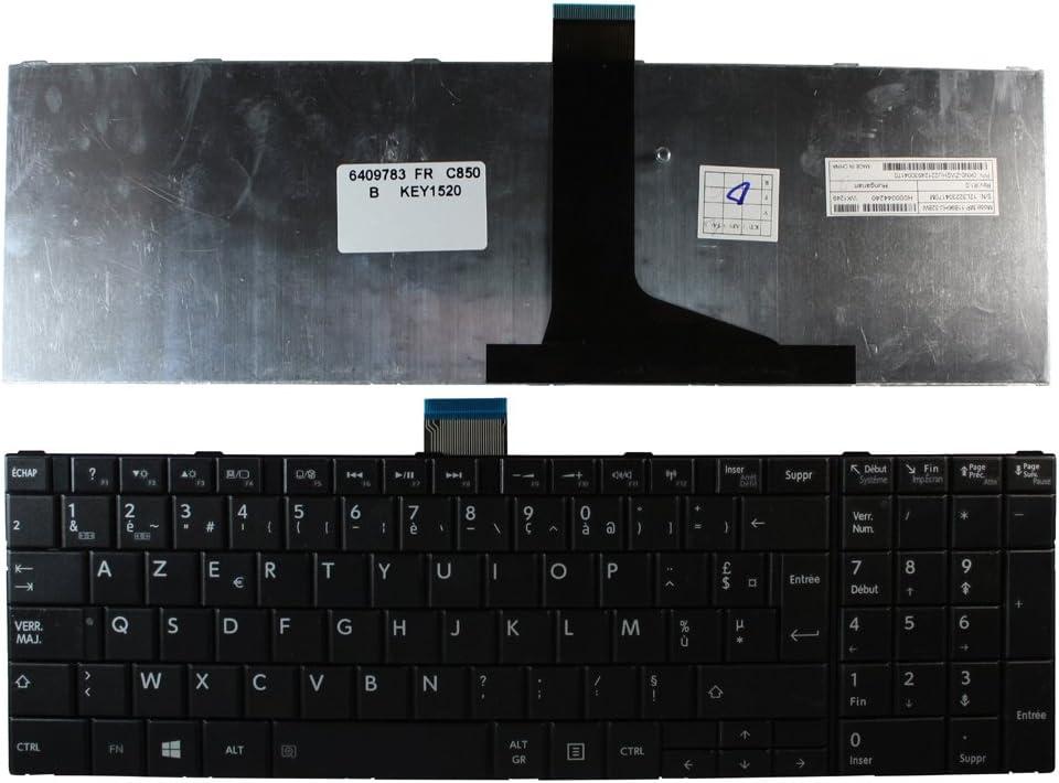 Toshiba Satellite C850-11C Toshiba Satellite C850-119 Toshiba Satellite C850-10V Keyboards4Laptops French Layout Black Windows 8 Keyboard for Toshiba Satellite C850-10C Toshiba Satellite C850-11F