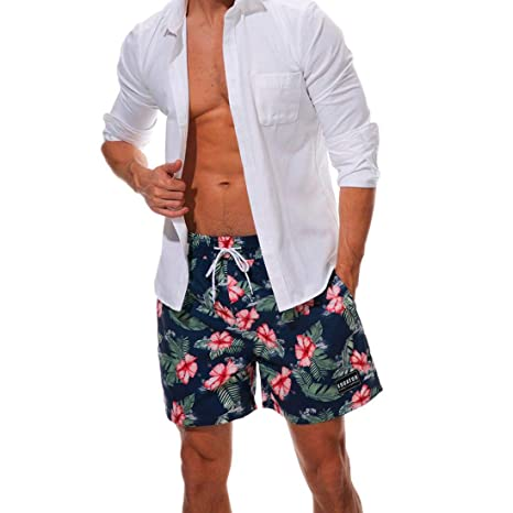 Gusspower bañador Trajes de baño de Camouflage de Hombres de natación Pantalones Cortos para Tabla de Surf de Playa Shorts: Amazon.es: Electrónica