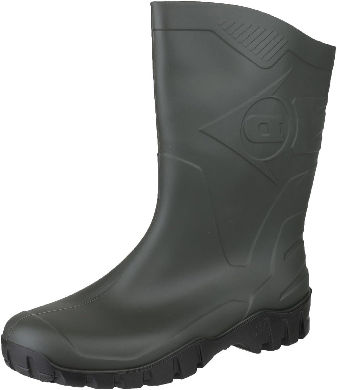 Dunlop HEVEA Unisex Half Length Wide Calf Wellington Boots Black