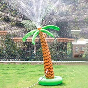 Soyoekbt Inflatable Palm Tree Yard Sprinkler Toy,Kids Spray Water Toy Outdoor Party 61