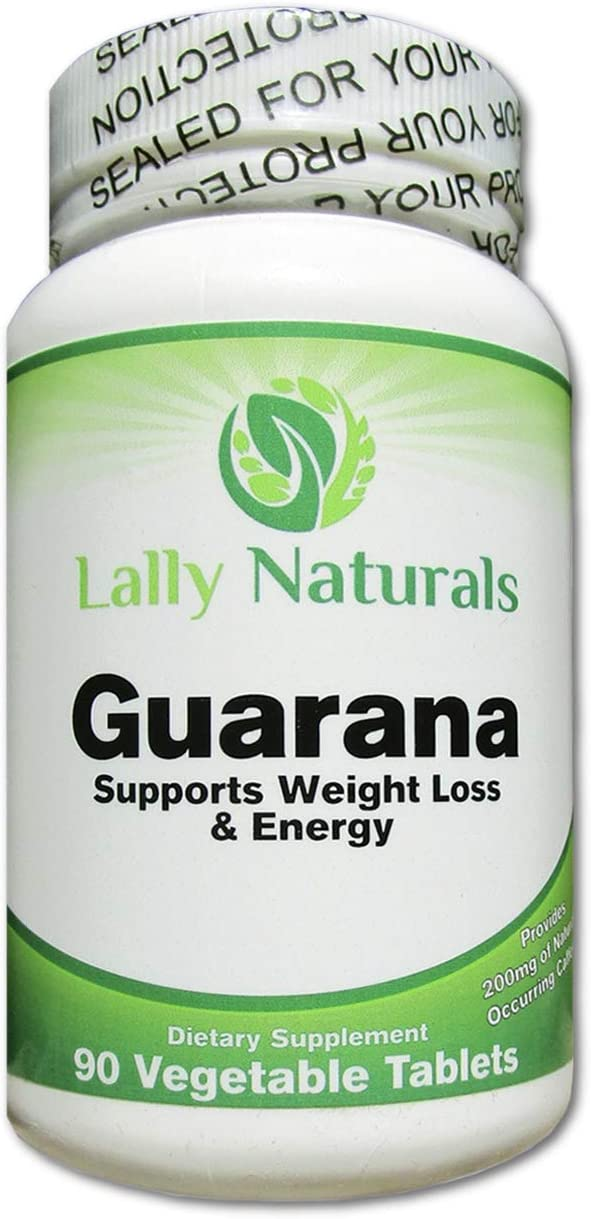 Pure Guarana Seed Extract 1000 mg – Amazon Rainforest Increases Stamina Natural Caffeine Helps You Stay Alert – Slow Release Caffeine Pills Weight Loss – 90 Vegetable Tablets