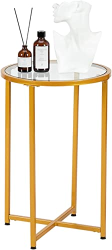 Bonnlo Round Side Table Small Round End Table
