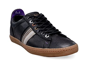 05d3e678bd9d Paul Smith PSJ men's black diamond Leather sneakers shoes - Model number:  SGXG J284 BLD