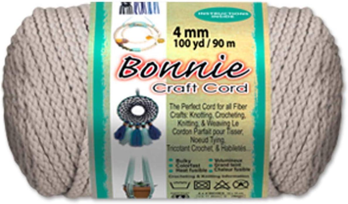 PEPPERELL BRAIDING COMPANY BB4100130 MACRAME CORD 4MM 100 LAMBS WOOL us:one size