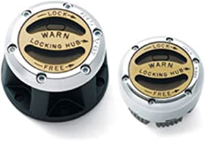 WARN 28761 Premium Manual Locking Hub with Zinc Aluminum Alloy Dial, Dual Seals and 26 Splines, Chrome, 1 Pair