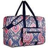 Travel Foldable Waterproof Duffel Bag - Lightweight Carry Storage Luggage Tote Duffel Bag. (Pink Floral)