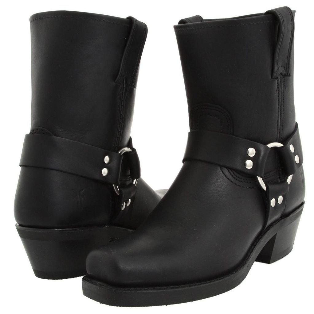 Frye Women's Harness 8R Boot Square Toe Black 7.5 M