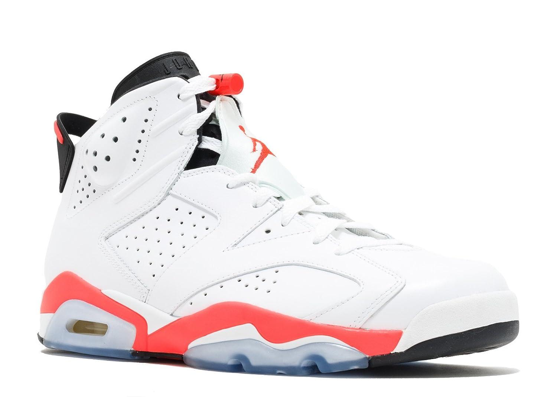 buy popular 3e0b7 dffb2 Amazon.com   Jordan Air 6 Retro Men s Basketball Shoes White Infrared-Black  384664-123 (10.5 D(M) US)   Basketball