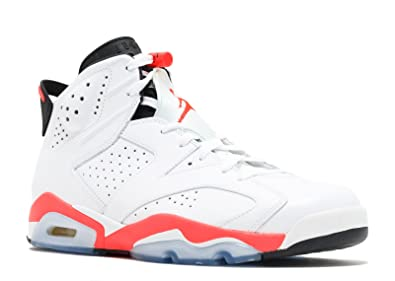 b5b8cd6249d1 Image Unavailable. Image not available for. Color  Jordan Air 6 Retro Men s  Basketball Shoes White Infrared-Black ...
