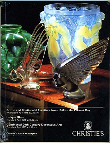 Christies 1995 Catalog South Kensington British Furniture Lalique Decorative ()