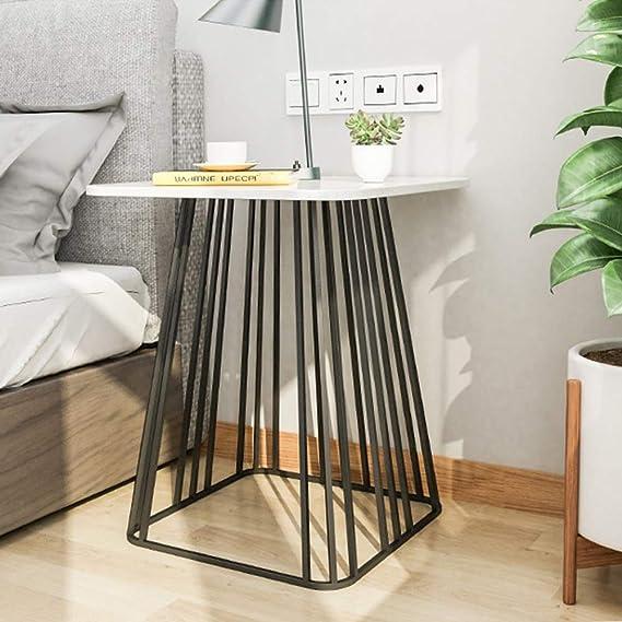 Amazon.com: Xiaoyan Mesa auxiliar de mármol nórdico, mesa de ...
