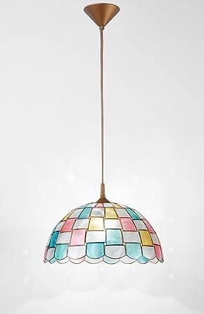 Lámpara de techo de nácar con pendel - Tamaños diámetro 40 ...