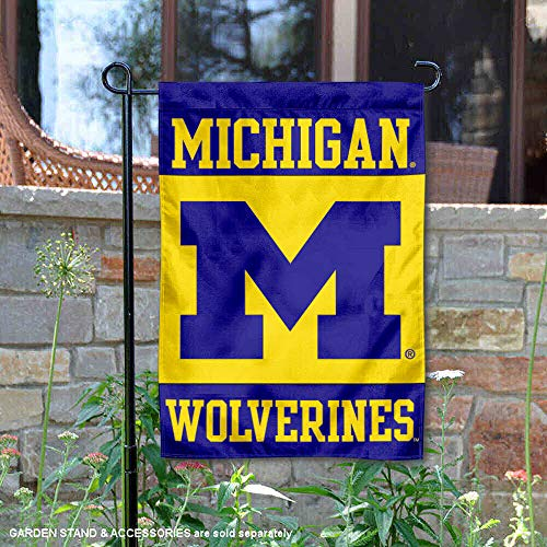 University of Michigan Garden Flag and Yard Banner - Michigan Wolverines Banner