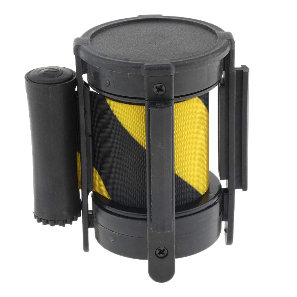 Black and Yellow Queue Barriers Crowd Control 9.8ft Retractable Belt Stanchions Fencing Gates Barriers
