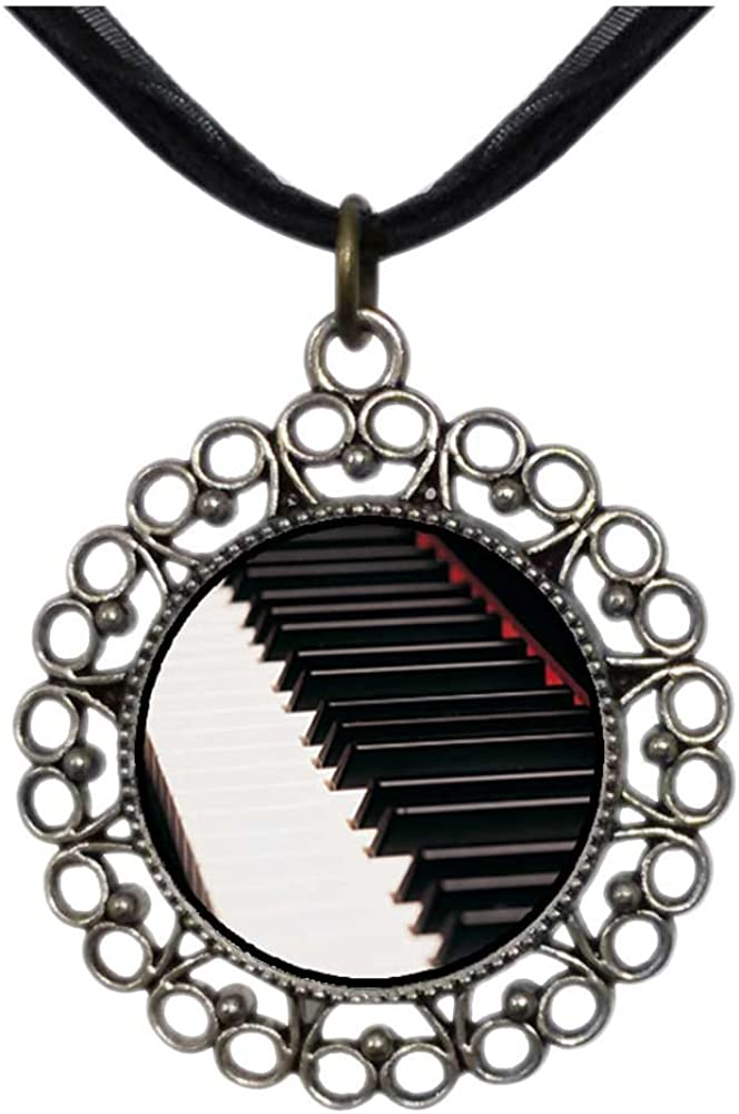 GiftJewelryShop Bronze Retro Style I Love My Grandkids Vintage Keys Charm Pendant Necklace