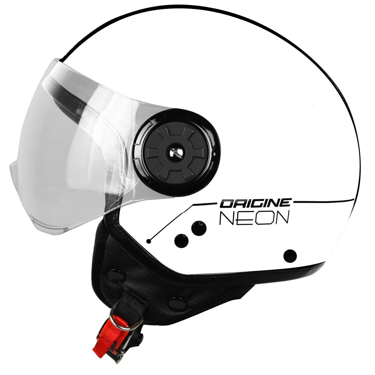 Origine Helmets 201585028100103 Neon Street Casco Demi Jet, Bianco, S (55/56) H&H Sports Protection srl