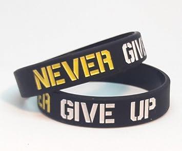 PasvukLifestyle Pulsera Silicona-Marca Motivacional Never Give UP ...