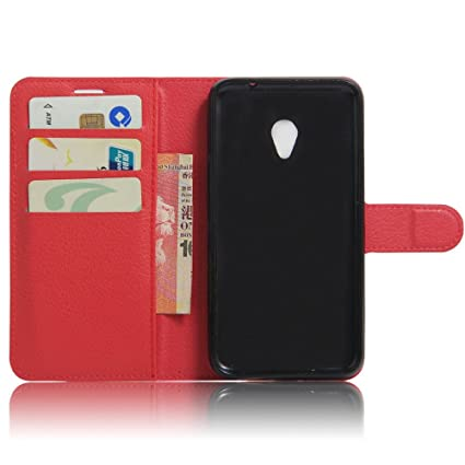 Amazon.com: For VODAFONE SMART TURBO 7 VFD500[Concise] Fashion Cute Magnetic Snap Wallet Card Flip Synthetic Holster Leather Stand With TPU Case Cover -RED: ...