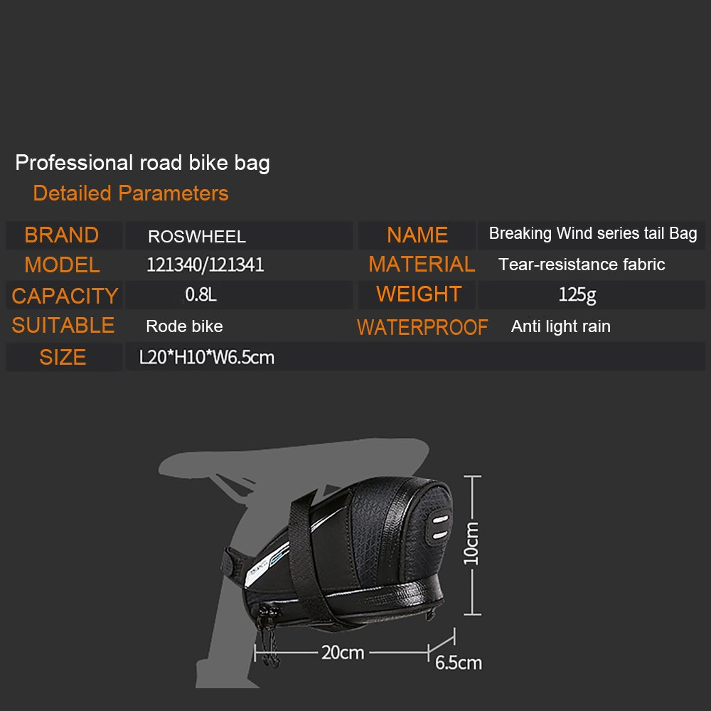 Roswheel Professional Road Bike Bag Bike Saddle Bag Bicycle Seat Storage Bags by Roswheel (Image #4)