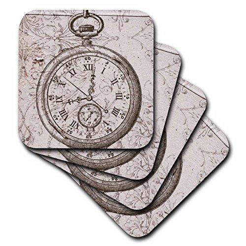 3dRose cst 110249 4 Steampunk Art Ceramic Coasters