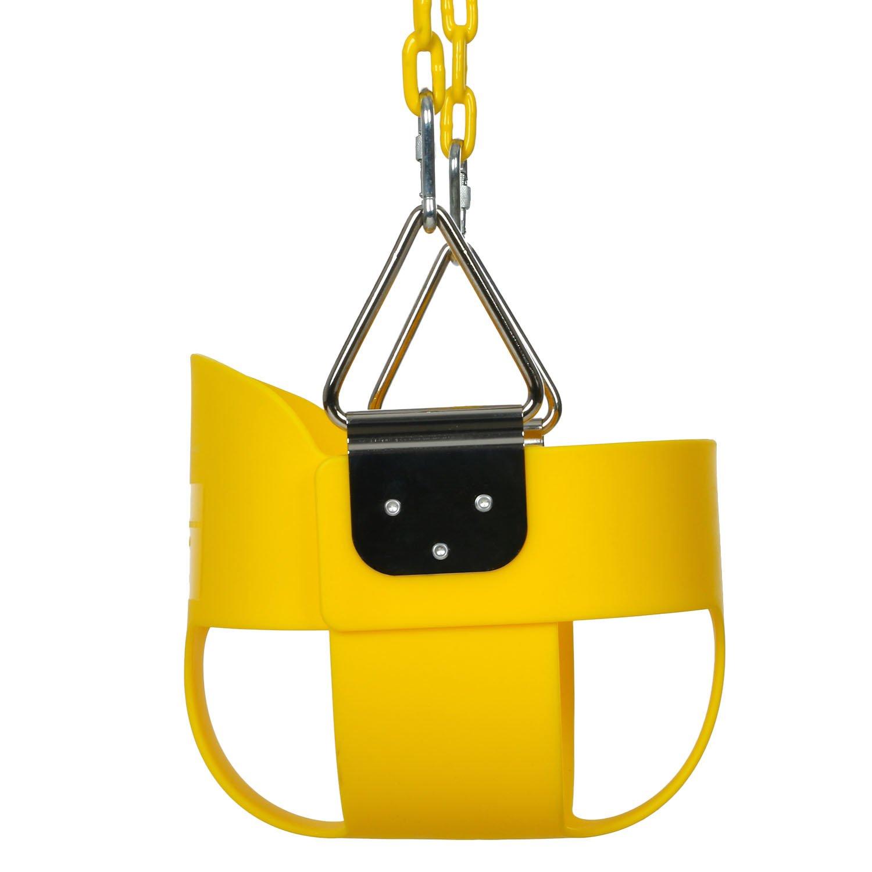 Ancheer Babyschaukel Kinderschaukel Gartenschaukel mit Karabinerhaken und 1.5m Edelstahlkette Tragf/ähigkeit bis zu 50 kg f/ür Kinder von 3 bis 7 Jahren