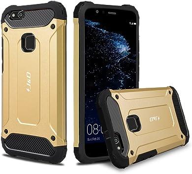 J&D Compatible para Huawei P10 Lite Funda, [Armadura Delgada] [Doble Capa] [Protección Pesada] Híbrida Resistente Funda Protectora y Robusta para Huawei P10 Lite: Amazon.es: Electrónica